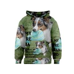 Blue Merle Miniature American Shepherd Love W Pic Kids  Pullover Hoodie