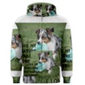Blue Merle Miniature American Shepherd Love W Pic Men s Zipper Hoodie View1