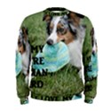 Blue Merle Miniature American Shepherd Love W Pic Men s Sweatshirt View1