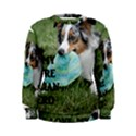 Blue Merle Miniature American Shepherd Love W Pic Women s Sweatshirt View1