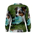 Blue Merle Miniature American Shepherd Love W Pic Women s Sweatshirt View2