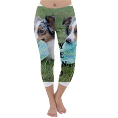 Blue Merle Miniature American Shepherd Love W Pic Capri Winter Leggings