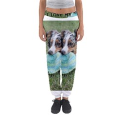 Blue Merle Miniature American Shepherd Love W Pic Women s Jogger Sweatpants