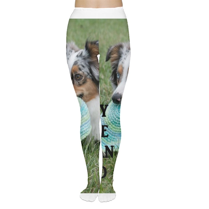 Blue Merle Miniature American Shepherd Love W Pic Women s Tights