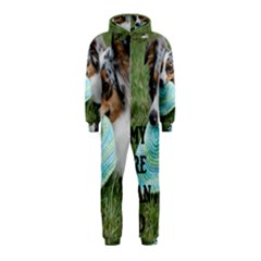 Blue Merle Miniature American Shepherd Love W Pic Hooded Jumpsuit (Kids)