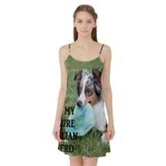 Blue Merle Miniature American Shepherd Love W Pic Satin Night Slip