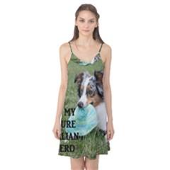 Blue Merle Miniature American Shepherd Love W Pic Camis Nightgown