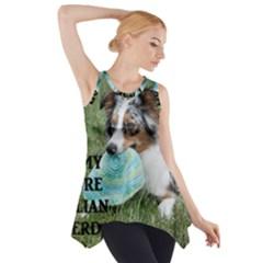Blue Merle Miniature American Shepherd Love W Pic Side Drop Tank Tunic