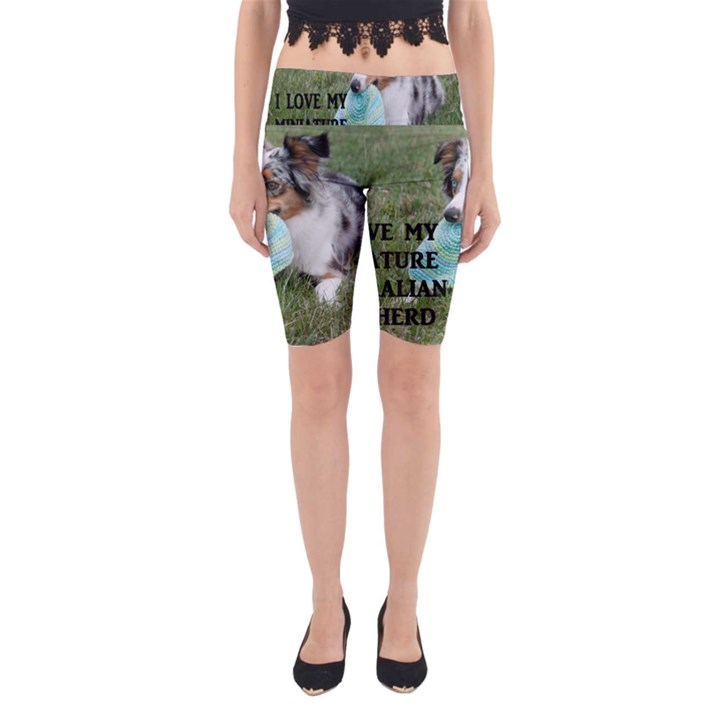Blue Merle Miniature American Shepherd Love W Pic Yoga Cropped Leggings