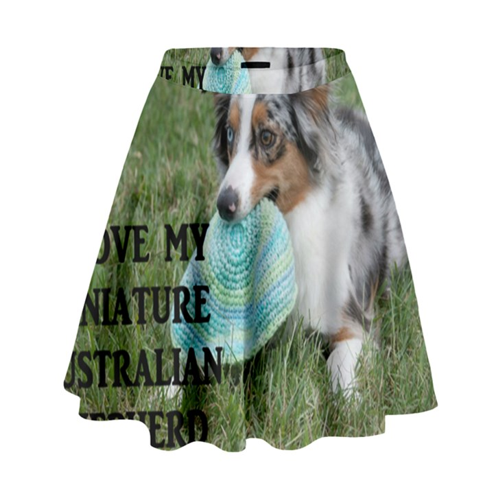 Blue Merle Miniature American Shepherd Love W Pic High Waist Skirt