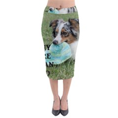 Blue Merle Miniature American Shepherd Love W Pic Midi Pencil Skirt