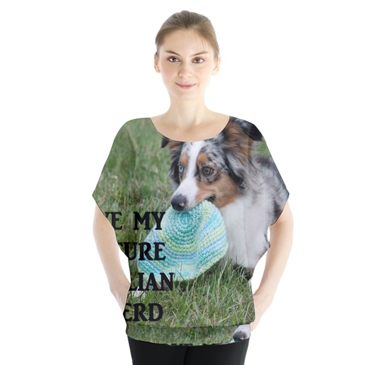 Blue Merle Miniature American Shepherd Love W Pic Blouse