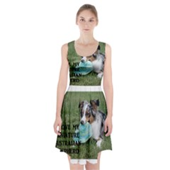 Blue Merle Miniature American Shepherd Love W Pic Racerback Midi Dress