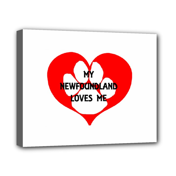 My Newfie Loves Me Canvas 10  x 8
