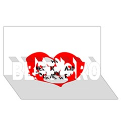 My Newfie Loves Me BEST BRO 3D Greeting Card (8x4)