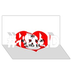 My Newfie Loves Me #1 DAD 3D Greeting Card (8x4)