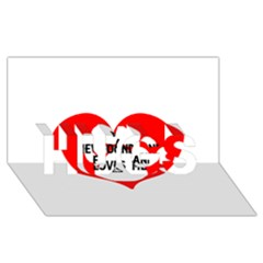 My Newfie Loves Me HUGS 3D Greeting Card (8x4)
