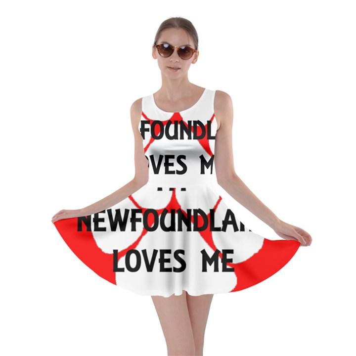 My Newfie Loves Me Skater Dress