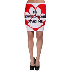 My Newfie Loves Me Bodycon Skirt