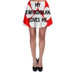 My Newfie Loves Me Skater Skirt