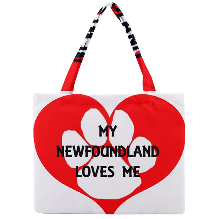 My Newfie Loves Me Mini Tote Bag