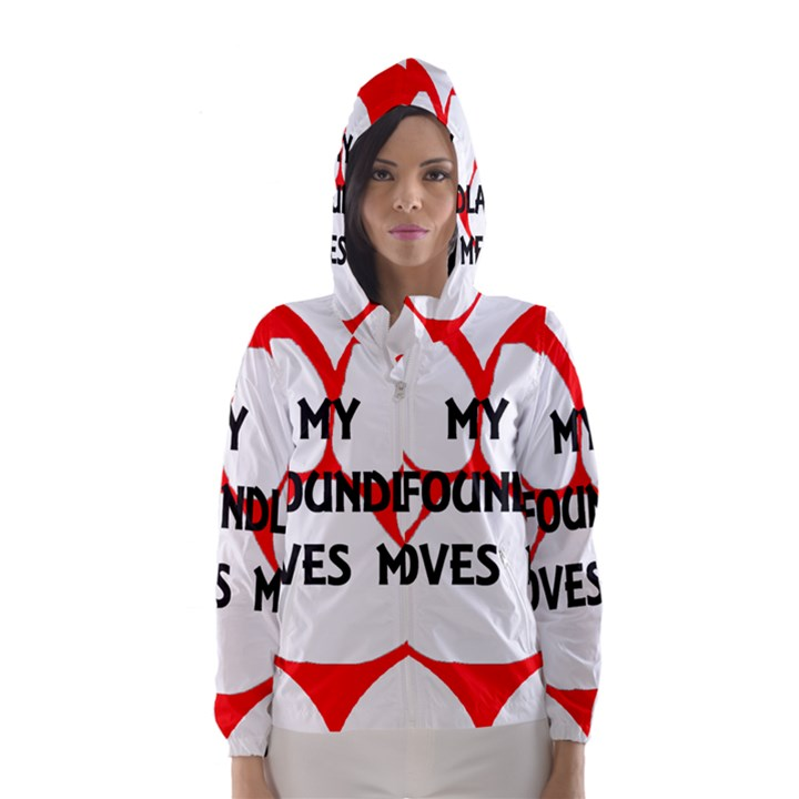 My Newfie Loves Me Hooded Wind Breaker (Women)
