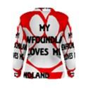 My Newfie Loves Me Women s Sweatshirt View2
