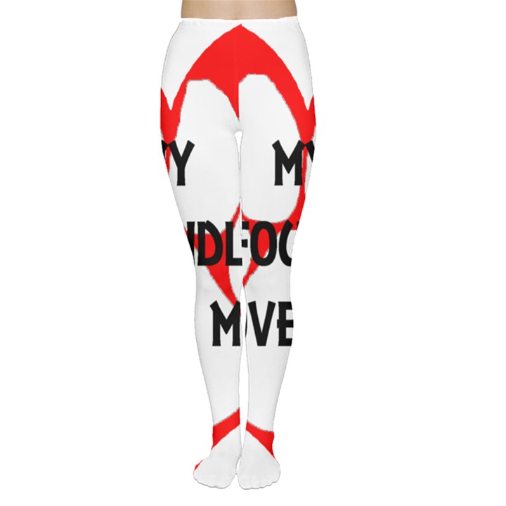 My Newfie Loves Me Women s Tights