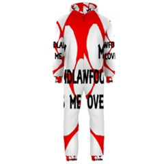 My Newfie Loves Me Hooded Jumpsuit (Men)