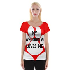 My Newfie Loves Me Women s Cap Sleeve Top