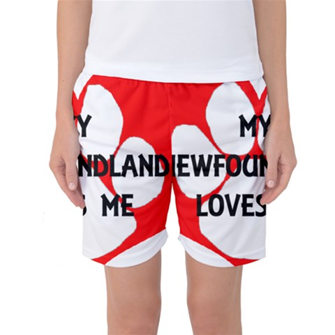 My Newfie Loves Me Women s Basketball Shorts