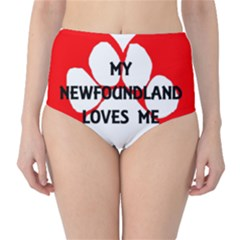 My Newfie Loves Me High-Waist Bikini Bottoms
