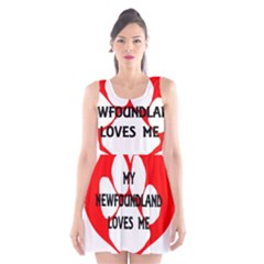 My Newfie Loves Me Scoop Neck Skater Dress