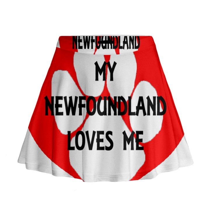 My Newfie Loves Me Mini Flare Skirt