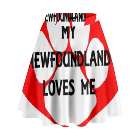 My Newfie Loves Me High Waist Skirt