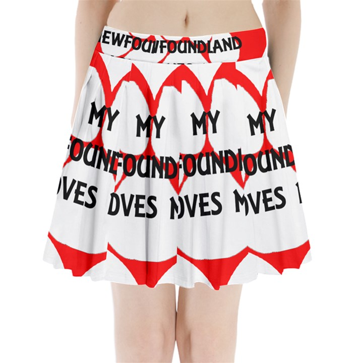 My Newfie Loves Me Pleated Mini Skirt