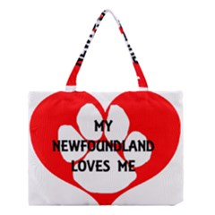 My Newfie Loves Me Medium Tote Bag