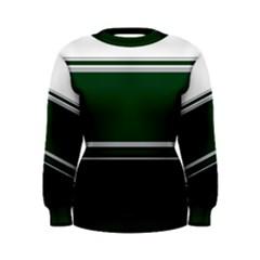 Black, Green and White Blocks Women s Sweatshirt