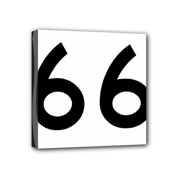 U.S. Route 66 Mini Canvas 4  x 4