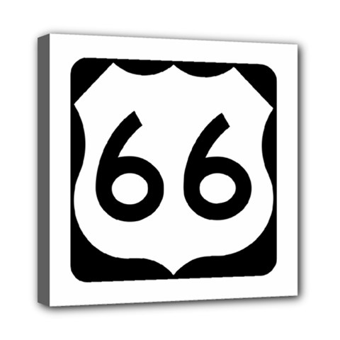 U.S. Route 66 Mini Canvas 8  x 8