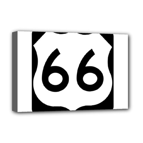 U S  Route 66 Deluxe Canvas 18  X 12