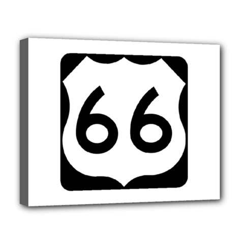 U S  Route 66 Deluxe Canvas 20  X 16