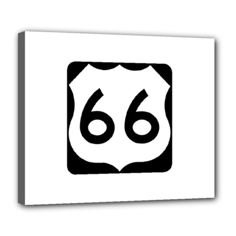 U.S. Route 66 Deluxe Canvas 24  x 20