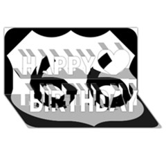 U.S. Route 66 Happy Birthday 3D Greeting Card (8x4)