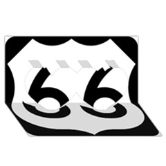 U.S. Route 66 Twin Hearts 3D Greeting Card (8x4)