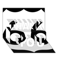 U S  Route 66 Thank You 3d Greeting Card (7x5)