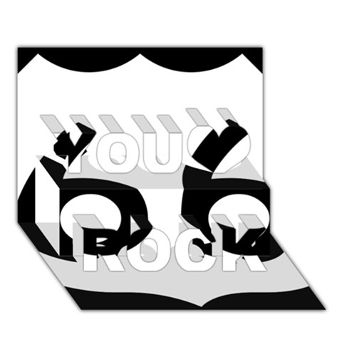 U.S. Route 66 You Rock 3D Greeting Card (7x5)