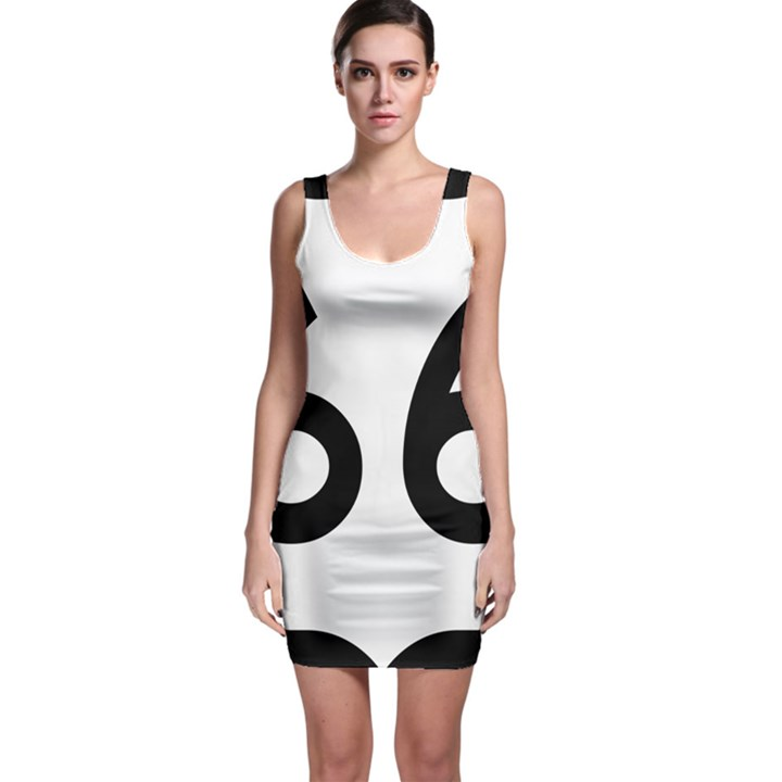 U.S. Route 66 Sleeveless Bodycon Dress