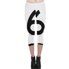 U.S. Route 66 Capri Leggings