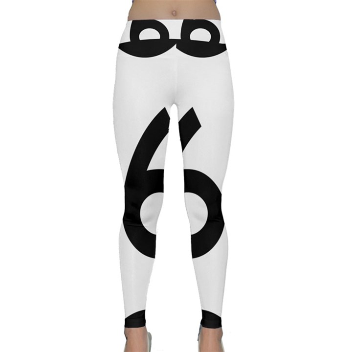 U.S. Route 66 Yoga Leggings